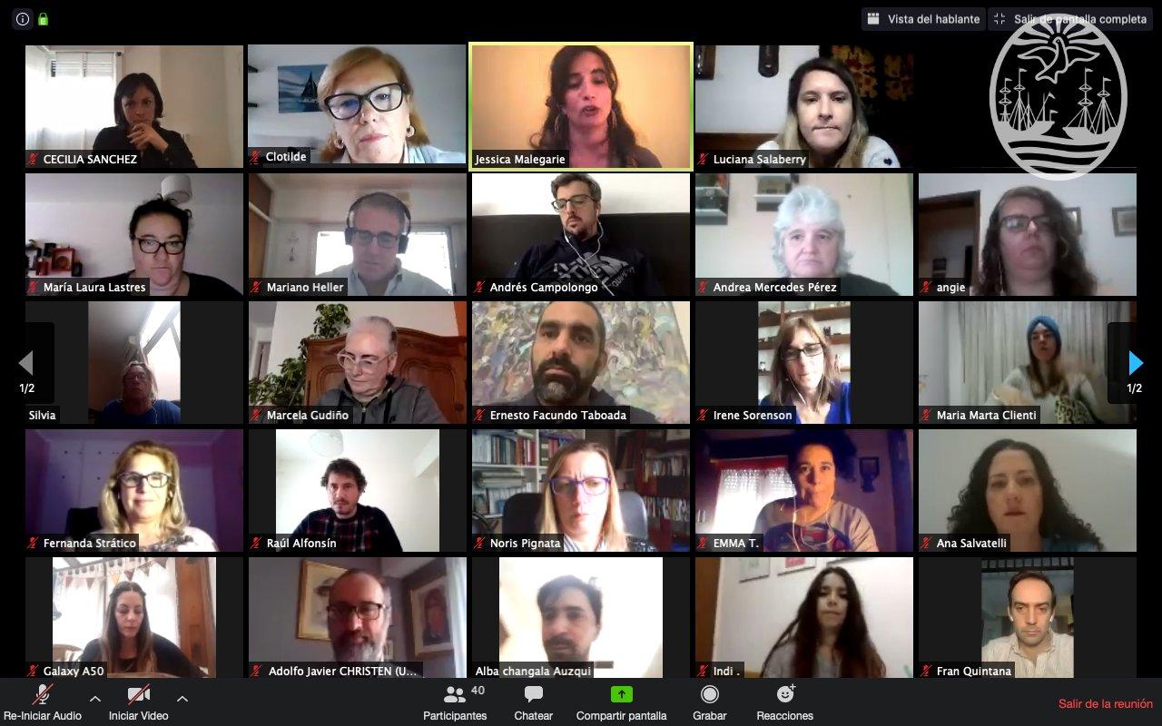 Encuentro virtual entre Consejerxs y voluntarixs del Programa de Acceso Comunitario a la Justicia.